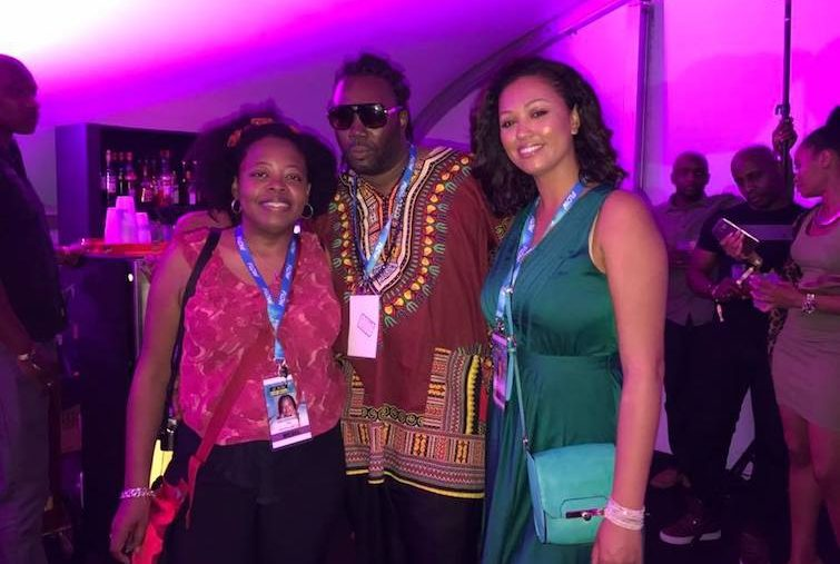 St Kitts Music Festival: Hanging Out in VIP Tent.