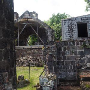 Wingfield Estate: Sugar wheel ruins.