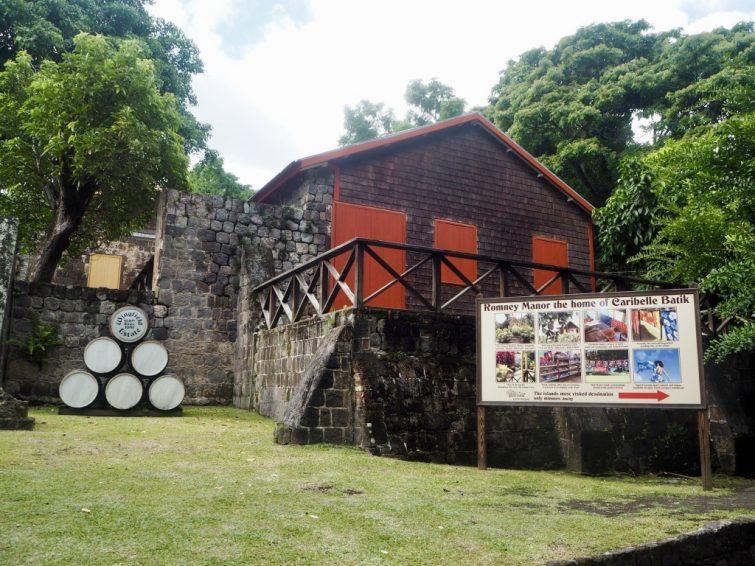 Wingfield Estate: Sign for Caribelle Batik