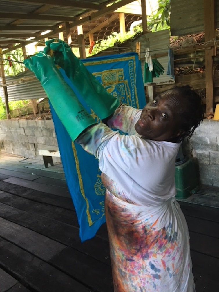 Romney Manor: Caribelle Batik employee of forty years - Mary Pemberton