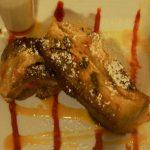 St Kitts Marriott Resort & The Royal Beach Casino: Blu Seafood Restaurant - Banana Bread Pudding.