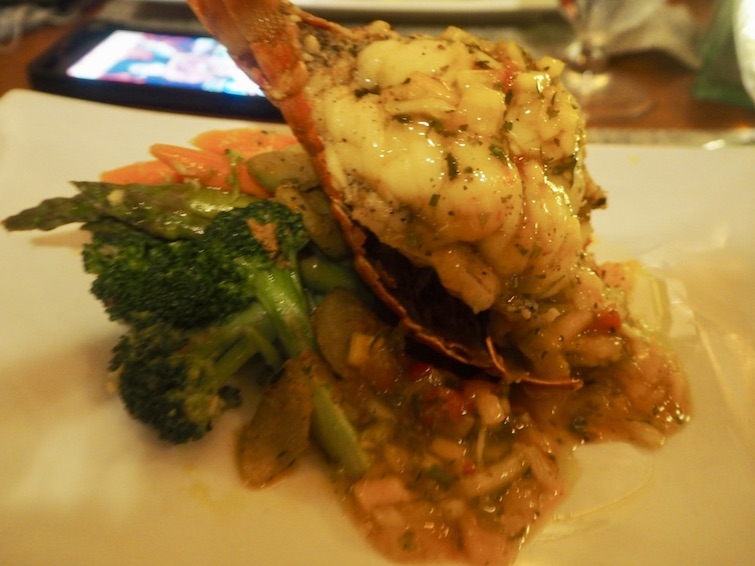 St Kitts Marriott Resort & The Royal Beach Casino_Blu Seafood Restaurant: Frigate Bay Reef Lobster.