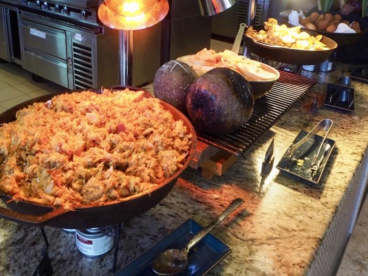St Kitts Marriott Resort & The Royal Beach Casino: Calypso Restaurant_Salt fish, Breadfruit, Plantain & Johnny Cake.