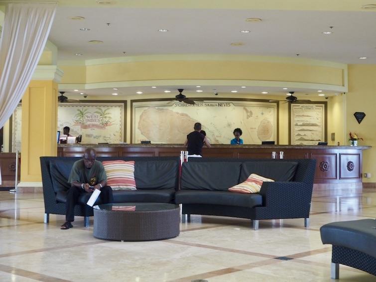 St Kitts Marriott Resort & The Royal Beach Casino: Reception Desk.