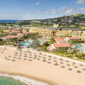 St. Kitts Marriott Resort & The Royal Beach Casino: Aerial View.