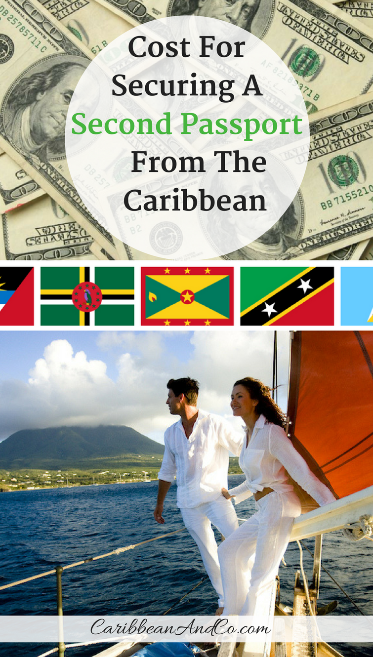 Find out what it cost for a single applicant to secure a second passport from the Caribbean by making a non-refundable contribution to government fund or purchasing real estate.