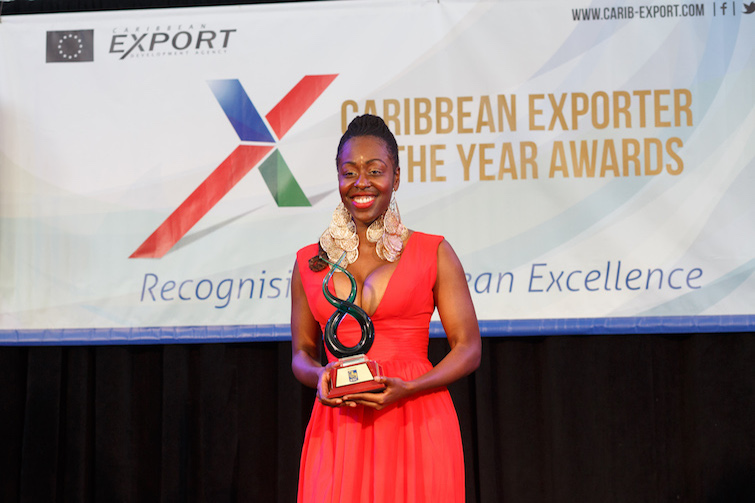 Kreyol Essence founder Yve-Car Momperousse wins 2016 Female Exporter of the Year from Caribbean Export Development Agency.