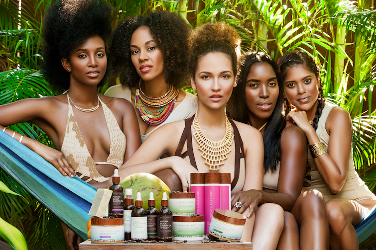 Kreyol Essence range of products and multicultural women