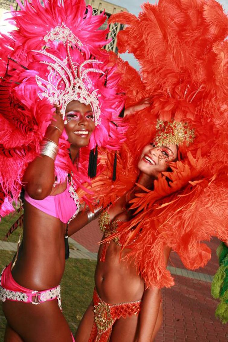 Trinidad & Tobago: Carnival Revelers.