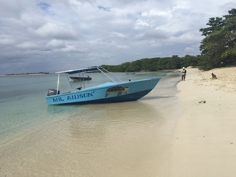 Carriacou: Ms Allison boat on Paradise Beach.