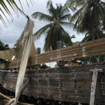 Carriacou: Traditional boat being built in Windward Village.