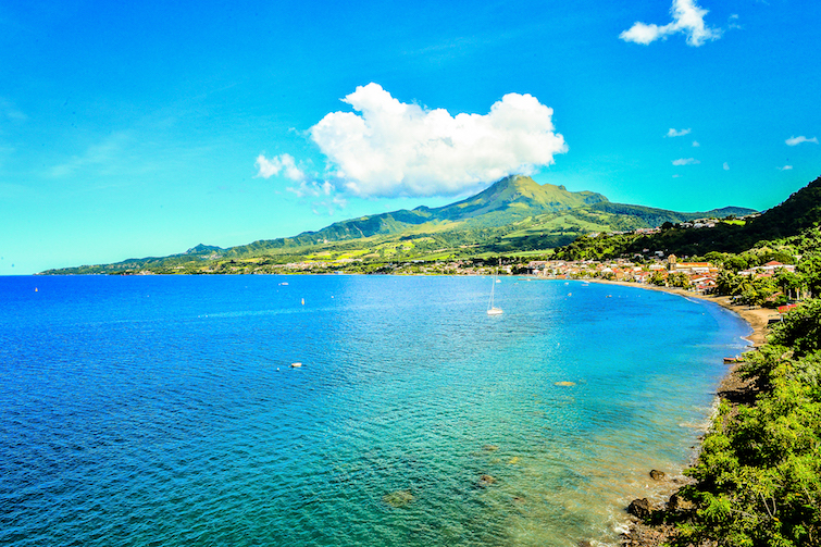 Martinique: View of Saint Pierre Pelee. Photo Credit: © Martinique Tourism Board.