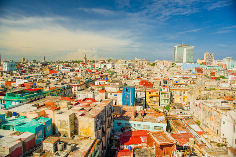 Cuba: Panorama of Havana City, Vedado District. Photo Credit: © Fotos 593 / Adobe Stock.