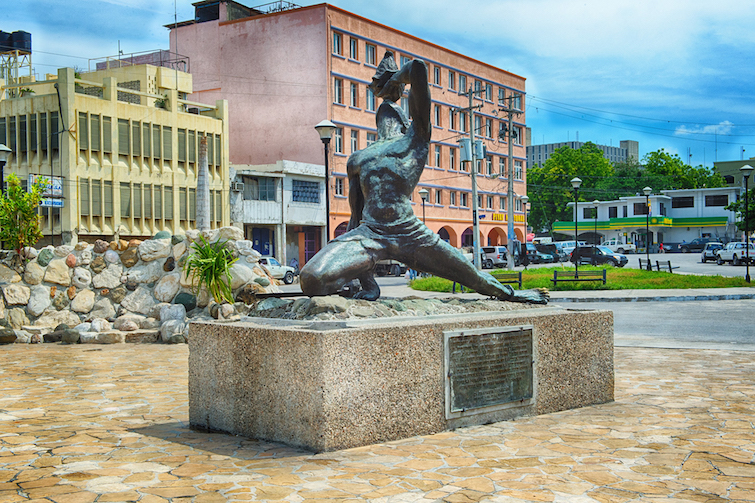 Haiti: Bronze statute in Port-Au-Prince titled Le Marron Inconnu de Saint-Domingue aka The Unknown Slave. Photo Credit: © Tourism Republic of Haiti.