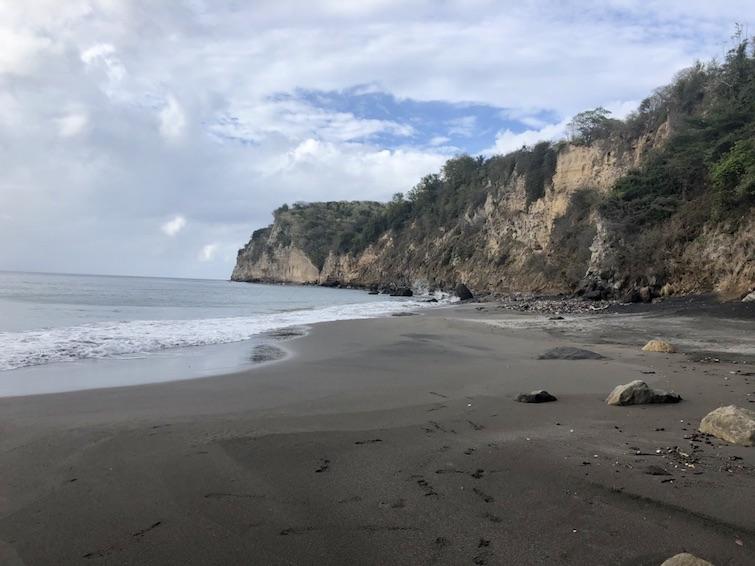 Montserrat black sand beaches: Bunkum Bay black sand. Photo Credit: ©Ursula Petula Barzey.