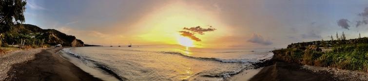 Montserrat: Isle Bay Beach panorama sunset view. Photo Credit: © Ursula Petula Barzey.