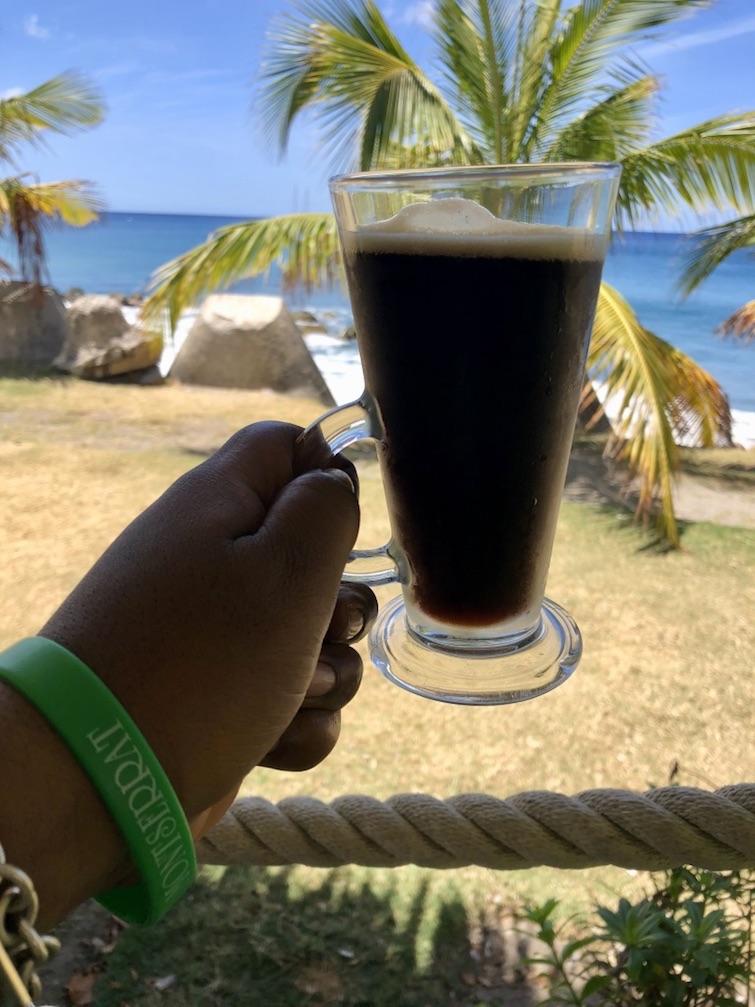 Montserrat: Montserrat Soufriere Stout - Dark Beer. Photo Credit: ©Ursula Petula Barzey.