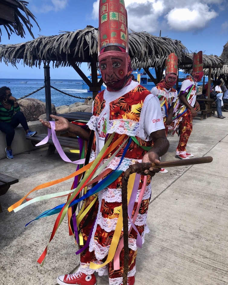 Montserrat: Masquerade dancer at Little Bay. Photo Credit: © Ursula Petula Barzey.