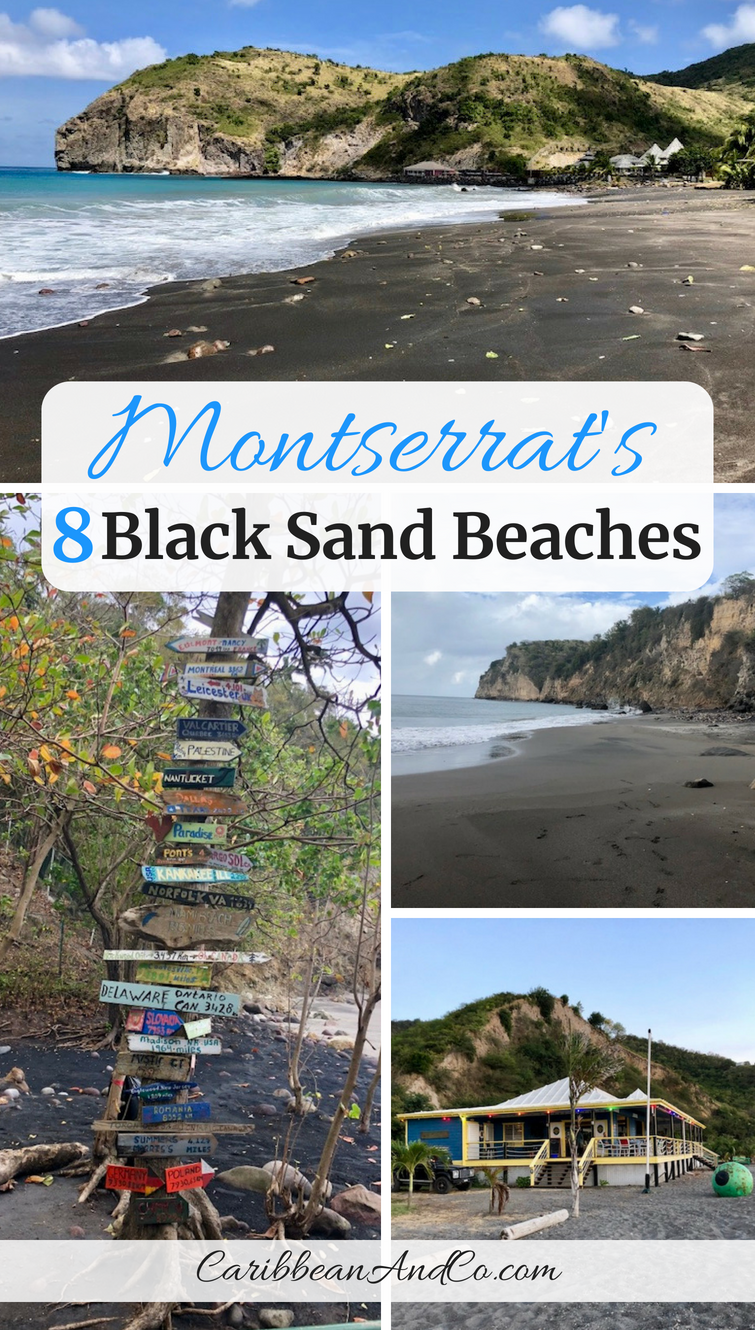 Find out why Montserrat, known as the Emerald Isle of the Caribbean has mostly grey or black sand beaches and only one white sand beach. #BlackSandBeaches #MontserratBeaches #Montserrat #VisitMontserrat