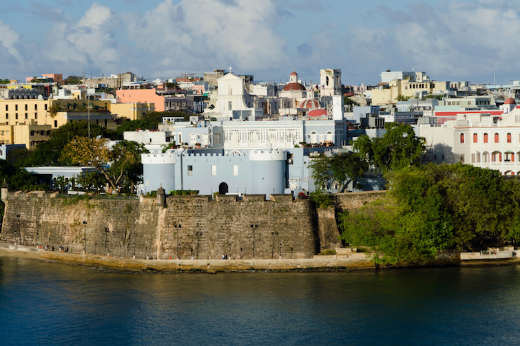 Puerto Rico: Evening view on old San Juan. Photo Credit: © Konstantin L / Adobe Stock.