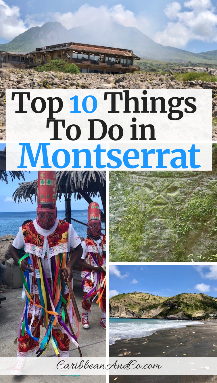 Find out about the top 10 things to in Montserrat, a volcanic island also known as the Emerald Isle of the Caribbean. #Montserrat #Caribbean #CaribbeanTravel
