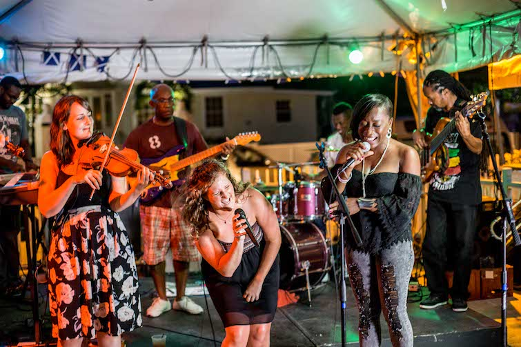 Barbados: Fara perform with Adrian Husbands Spouge Band at 2016 Barbados Celtic Festival. Photo Credit: © Barbados Tourism Marketing.