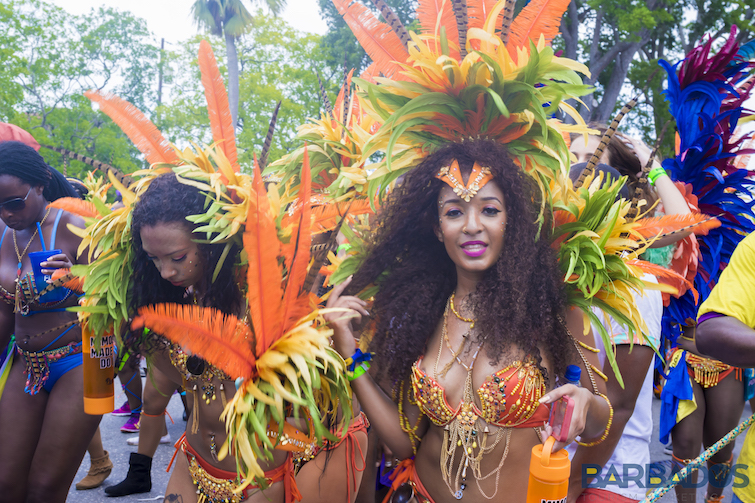 Barbados: Reveler at Crop Over Festival on Grand Kadooment Day. Photo Credit: © Barbados Tourism Marketing.