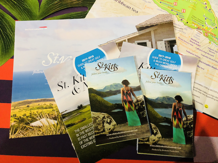 St Kitts: Tourist brochures. Photo Credit: © Ursula Petula Barzey.