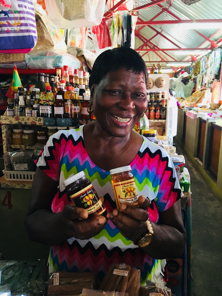 Grenada Spice Market: Close up of Gemma King Booth 14.