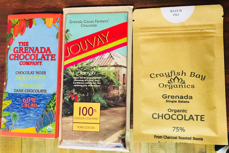 House of Chocolate Grenada: Chocolate Bars from Grenada Chocolate Company, Jouvay and Crayfish Bay Organics. Photo Credit: © Ursula Petula Barzey.