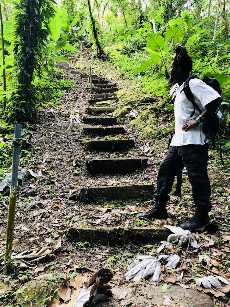 Hiking Montserrat: Billy Darroux on the Blackwood Allen Nature Trail.