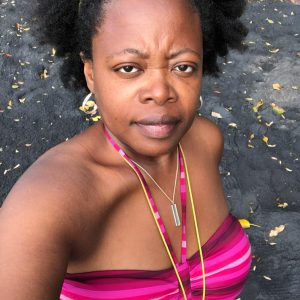 Ursula Petula Barzey at Woodlands Beach in Montserrat