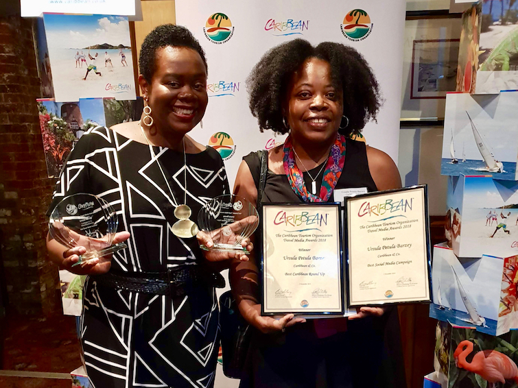 CTO Caribbean Travel Media Awards - Ursula Petula Barzey with With Carol Hay, Director of Marketing UK & Europe, Caribbean Tourism Organization.
