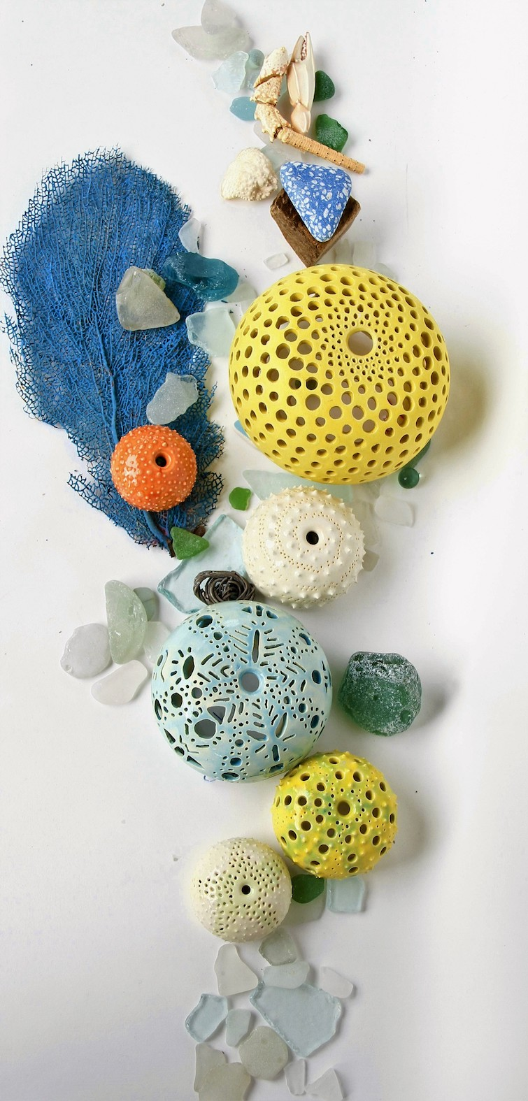 Touch By VLS: Urchin Collection_Decorative Ceramics. Photo Credit: © Touch By VLS.