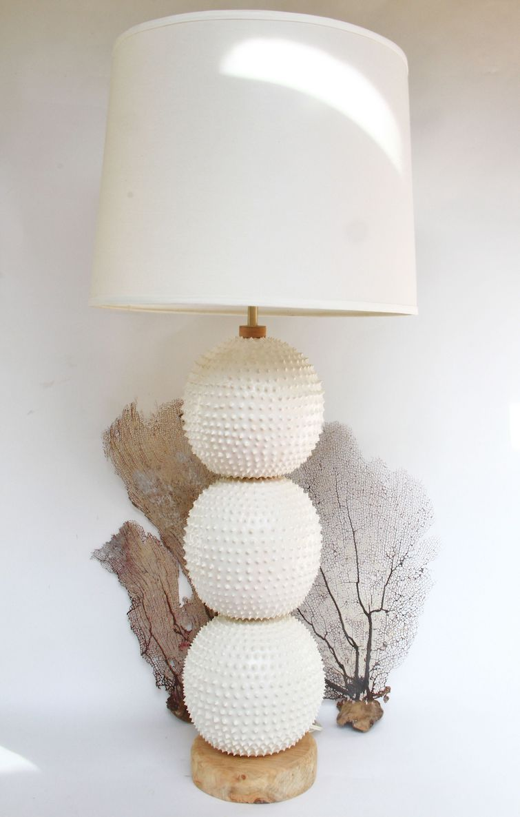 Touch By VLS: Urchin Collection Three Stack Table Lamp. Photo Credit: © Touch By VLS.