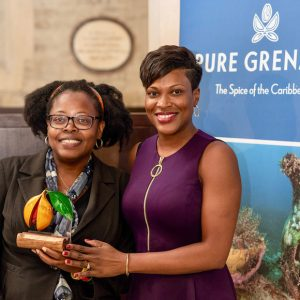 Caribbean & Co. founder Ursula Barzey with Her Excellency Ms Kisha Grant The High Commissioner Designate, Grenada.