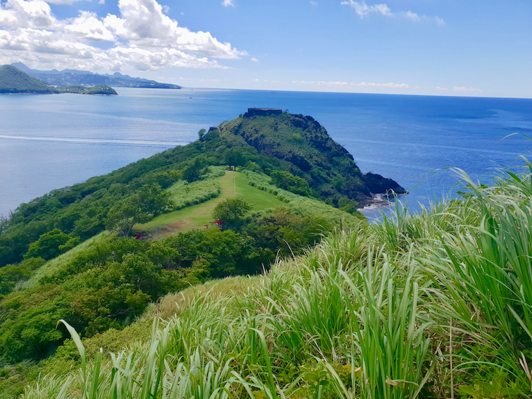 From of Fort Rodney from Signal Peak at Pigeon Island National Park.
