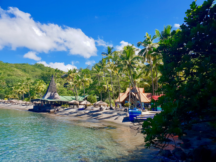 Jade Mountain Resort in Saint Lucia: A view of Anse Chastanet Beach.