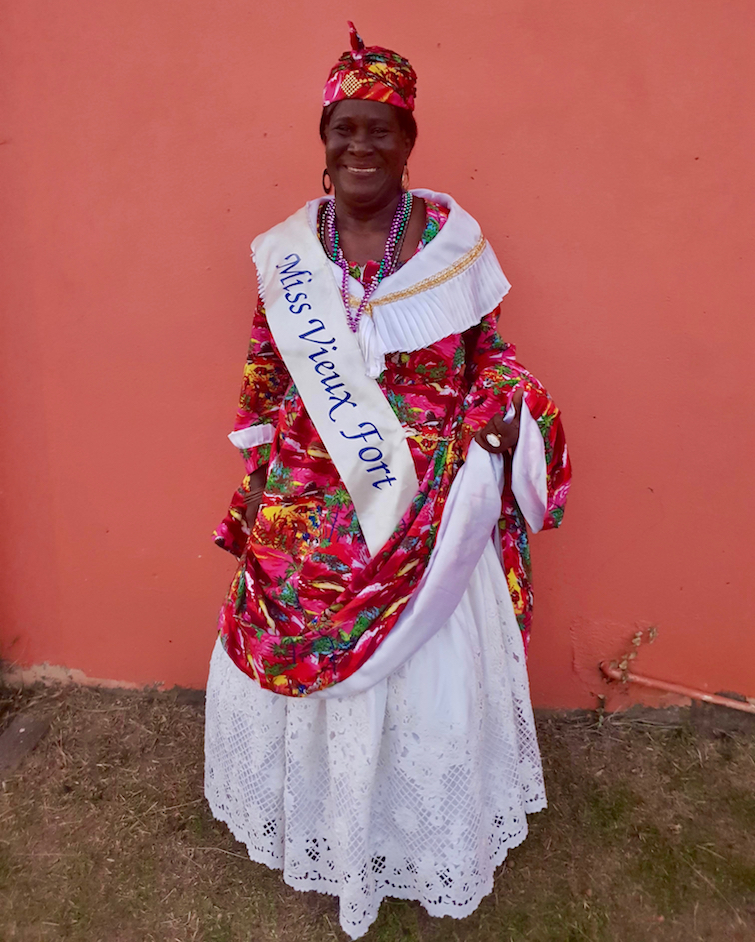 Miss Vieux Fort at Creole Day celebrations in Saint Lucia.