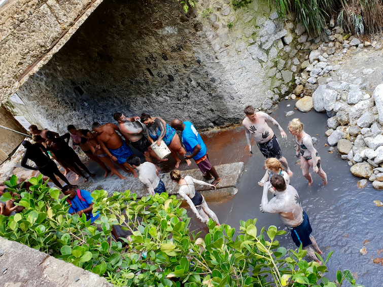 Things To Do In St Lucia: Mud Bath at Sulphur Springs Park.