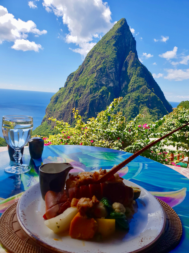 Things To Do In St Lucia: Have a seafood lunch at Dasheene Restaurant at Ladera Resort.