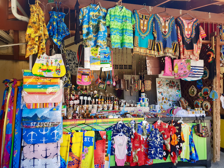 Things To Do In St Lucia: Shop for souvenirs at Castries Central Market.