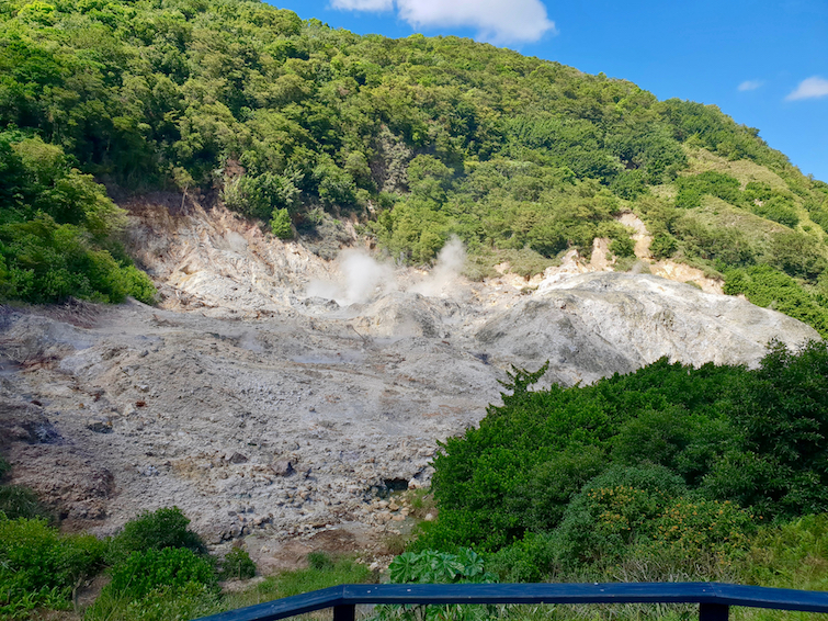 Things To Do In St Lucia: View volcano crate at Sulphur Springs Park.