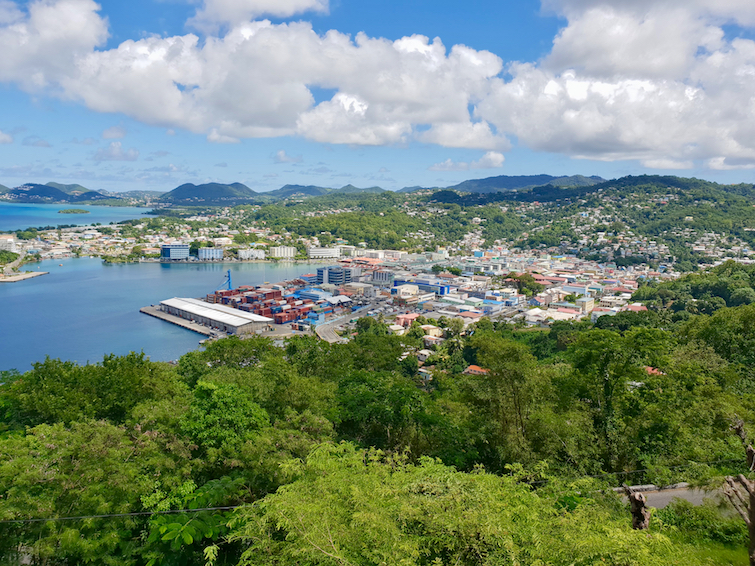 View of Castries from Morne Layby in Saint Lucia.
