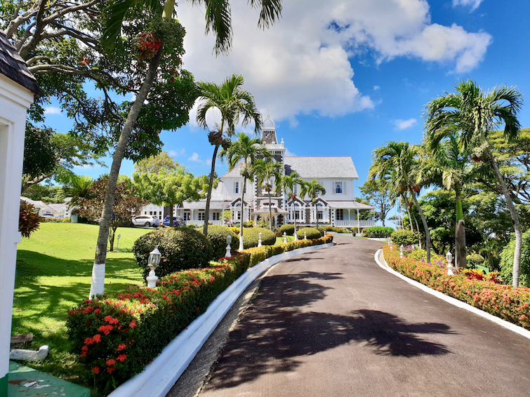 View of Government House in Saint Lucia.