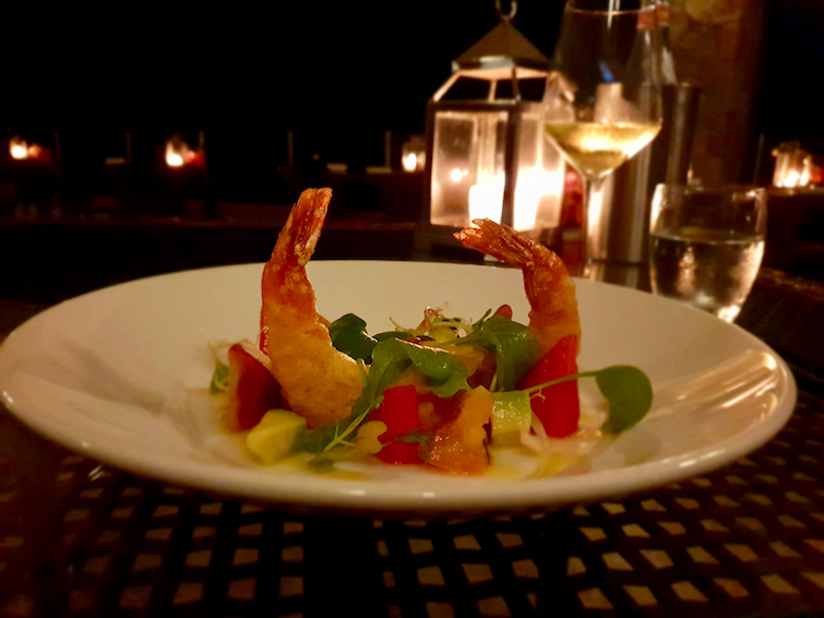 Jade Mountain Club: Shrimp appetizer