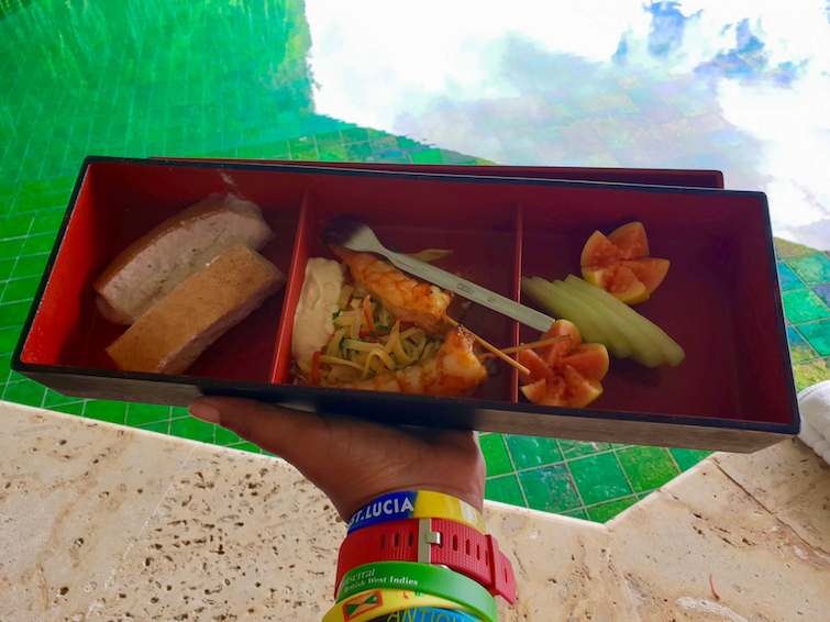 Jade Mountain Resort St Lucia: Afternoon snack from chef in Sanctuary JE2.