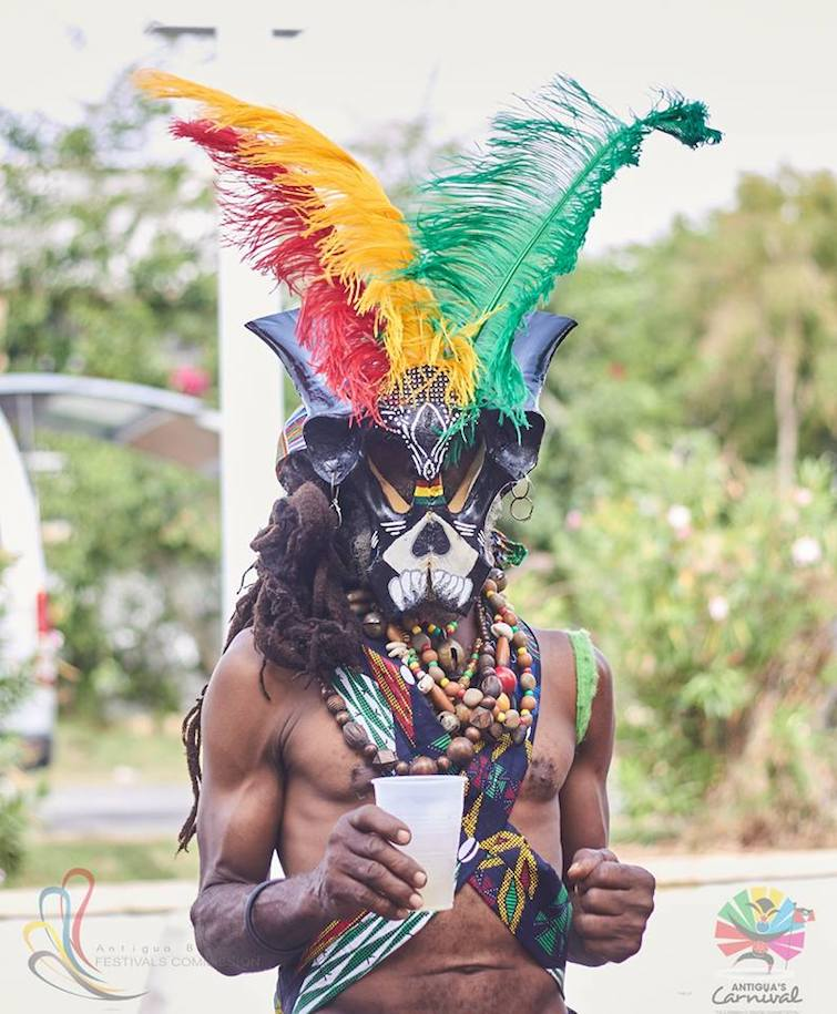 Antigua Carnival: Antiguans always find unique and creative ways to incorporate their African culture into their annual celebrations. Photo Credit: © Antigua Barbuda Festival Commission.