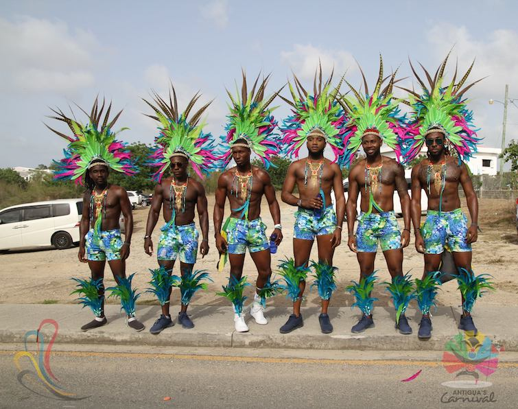 Antigua Carnival: Carnival Men on display during the Tuesday's Parade of the Bands. Photo Credit: © Antigua Barbuda Festival Commission.