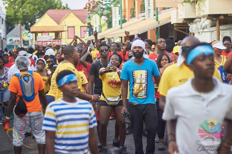 Antigua Carnival: Each year, thousands of people flood the city streets to celebrate J'ouvert. Photo Credit: © Antigua Barbuda Festival Commission.